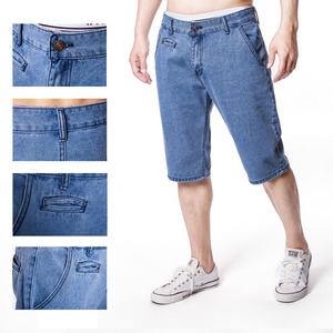 Denim Men Shorts Loose Fit Weight Summer Short Jeans Man Baggy Plus Size Male Clothing
