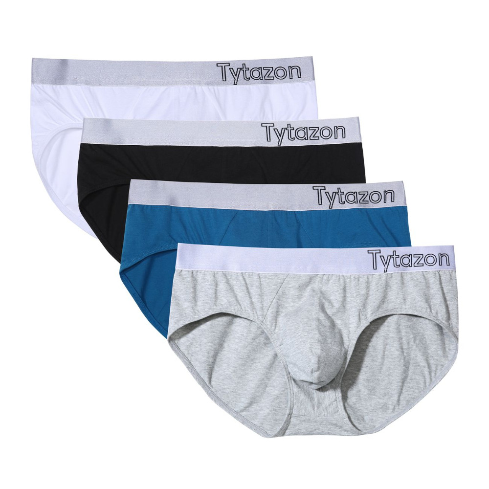 595198ed3627 TYTAZON Mens Underwear Lateral logo Waistband Body Stretch Steel Cotton  Soft Hip Brief Support Boost Tagless with Addtional Fly-in Briefs from  Underwear ...