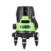 Бренд Fukuda 5 линий 400GJ лазерный уровень самонивелирующийся Горизонтальный Вертикальный крест лазерный измерительный прибор зеленый луч