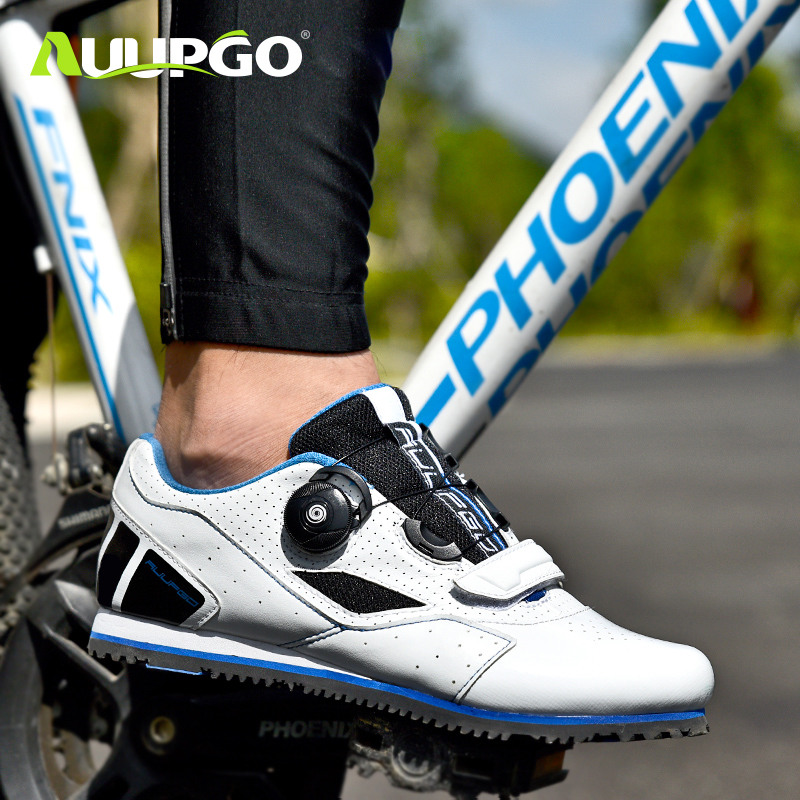 AUUPGO Professional cycling shoes for men and women without locks breathable leisure road bikes to help