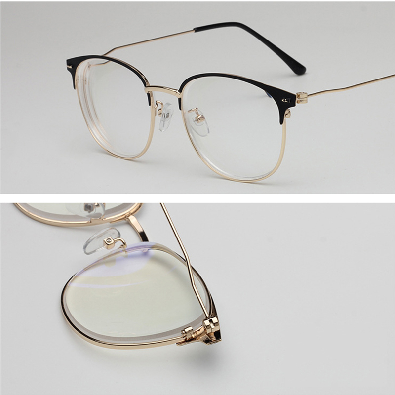 Retro Finished Myopia Glasses Men Shorted Sighted Spectacles Metal Frame Women Nearsighted Eyeglasses Student Glasses Frames A3 in Women 39 s Reading Glasses from Apparel Accessories