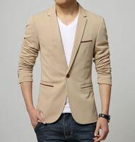 Mens Korean slim fit fashion cotton blazer Brand black blue Blazer Men Casual Suit Jacket Fit Wedding dress Men Suit Men 6XL