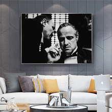 The Godfather Vintage Wall Posters And Prints Black And White Movie Photo Wall Art Canvas Prints Godfather Wall Paintings Decor(China)