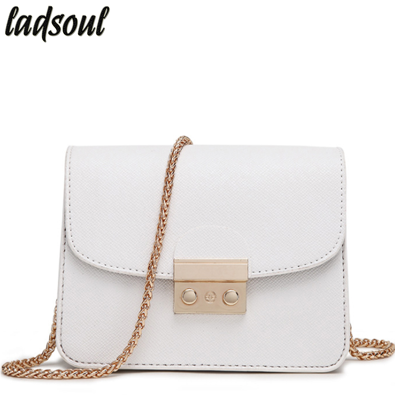 7123265fcd תיקים העליון-אחיזה - LADSOUL Mini Women Messenger Bags Good Quality Ladies  Small Clutches Tote Chain Cross-body Bags For Women Designer Tote ls8927 g