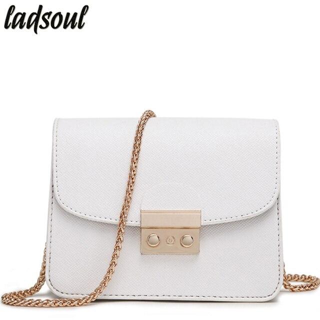LADSOUL Mini femmes Messenger sacs bonne qualité dames petites embrayages fourre-tout chaîne bandoulière sacs pour femmes Designer fourre-tout ls8927/g