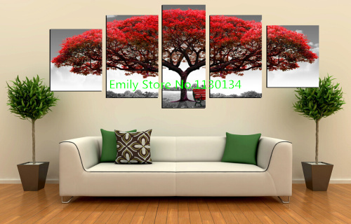 Multi Combination Red Tree diy diamond painting square drill diamond embroidery modern triptych home decoration painting
