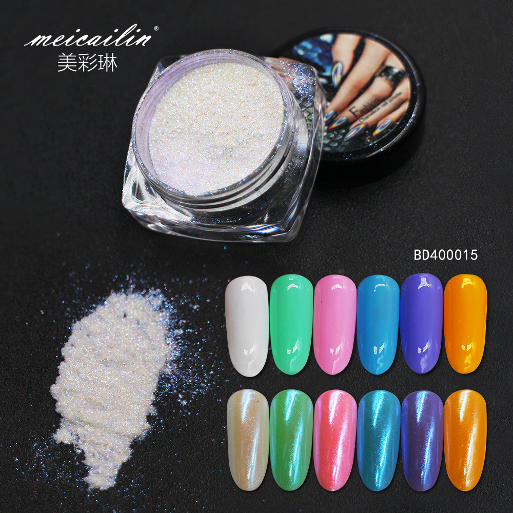 Meicailin New product 1pcs Neon Pigment Powder Ombre  Gradient Nail Pigments Dust