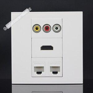 Настенная розетка с 4 портами s, 2 портами s, CAT5E, сетевая LAN, HDMI, 3RCA, av-порт, панель, розетка, адаптер, оптовая продажа