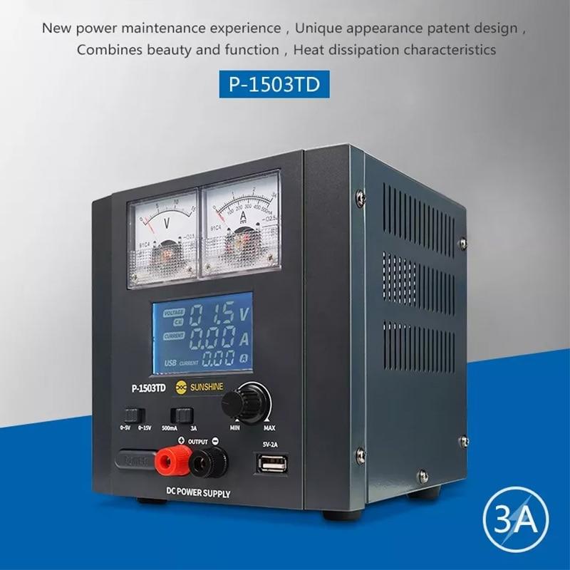 220V Digital Display DC Power Supply Regulated Power Source 0 5V/0 15V 0.5A/3A Laboratory DC Power Supply