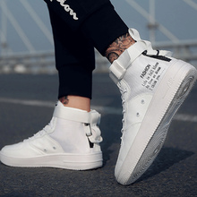 High Top Shoes Men Spring Sneakers 2019 New Arrival Solid Pl