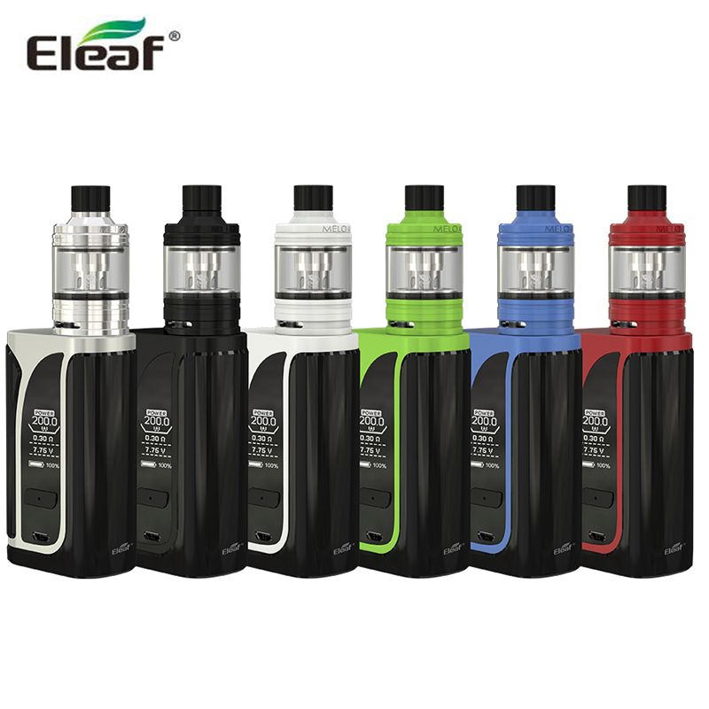Original Eleaf iKuun i200 with MELO 4 D22 Tank 2ML 4600 Battery 200W iKuun i200 Box MOD sigaretta elettronica
