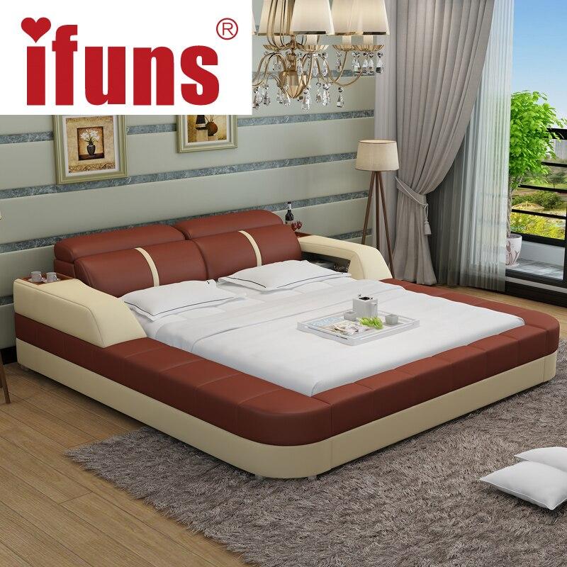 Nombre: IFUNS lujo moderno diseño de muebles de dormitorio king y ...