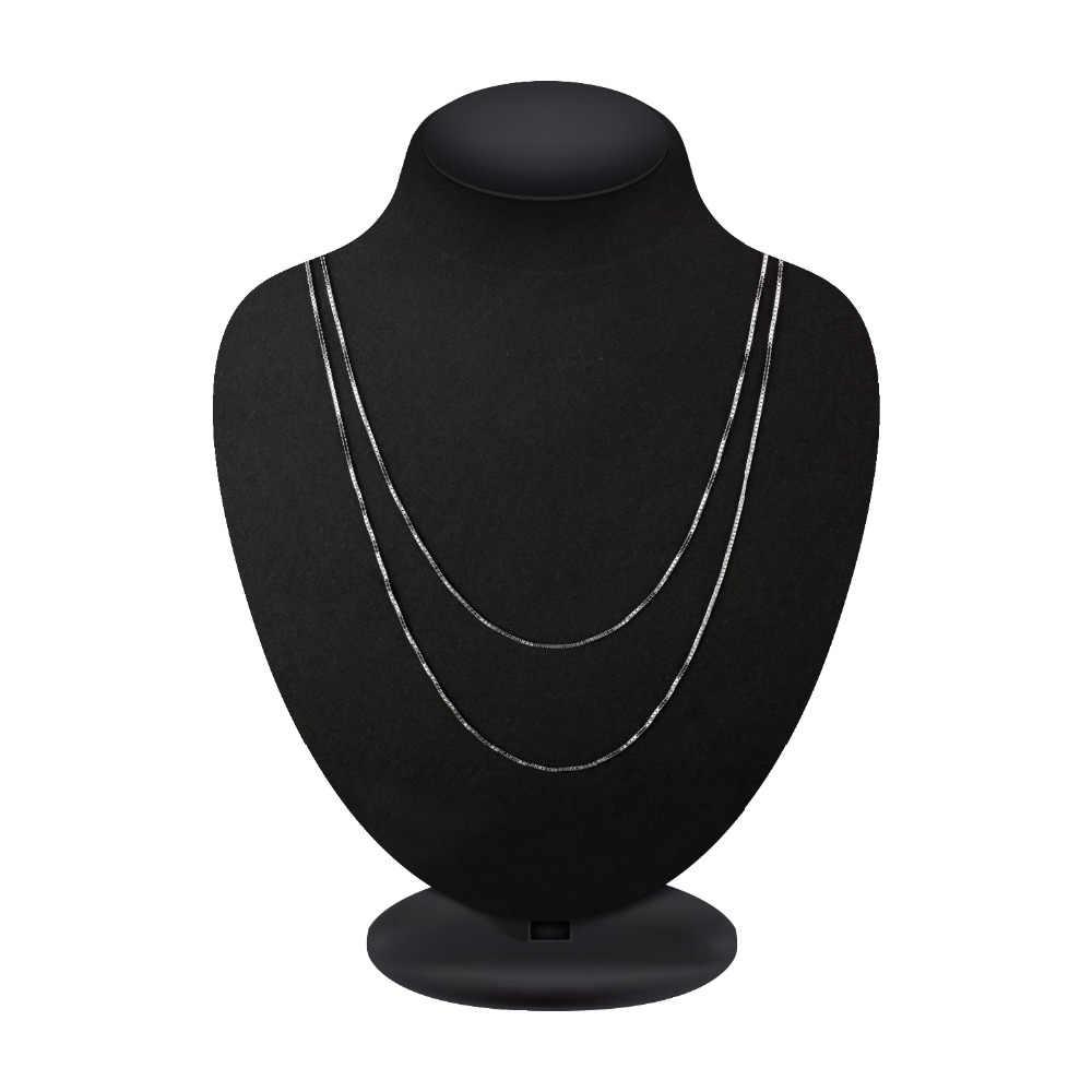 JewelryPalace 100% حقيقية 925 الاسترليني قلادة فضية سبيكة الملتوية تتبع بيلشر ثعبان بار سنغافورة صندوق سلسلة قلادة المرأة