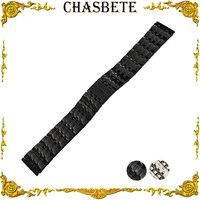 22mm Stainless Steel Watch Band for AP Audemars Piguet Metal Strap Wrist Loop Belt Bracelet Black Silver Men Women + Spring Bar
