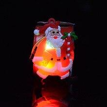 LED Christmas bracelet glowing bracelet Santa snowman clap ring Christmas Supplies toy Xmas ornament new year gifts Navidad