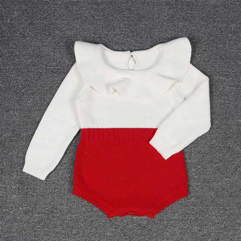 2017 fashion Autumn baby rompers newborn sweater one pieces solid body suits  girl's princess clothes peter pan collar  for 0-4Y брусья атлетические body solid gdip 59