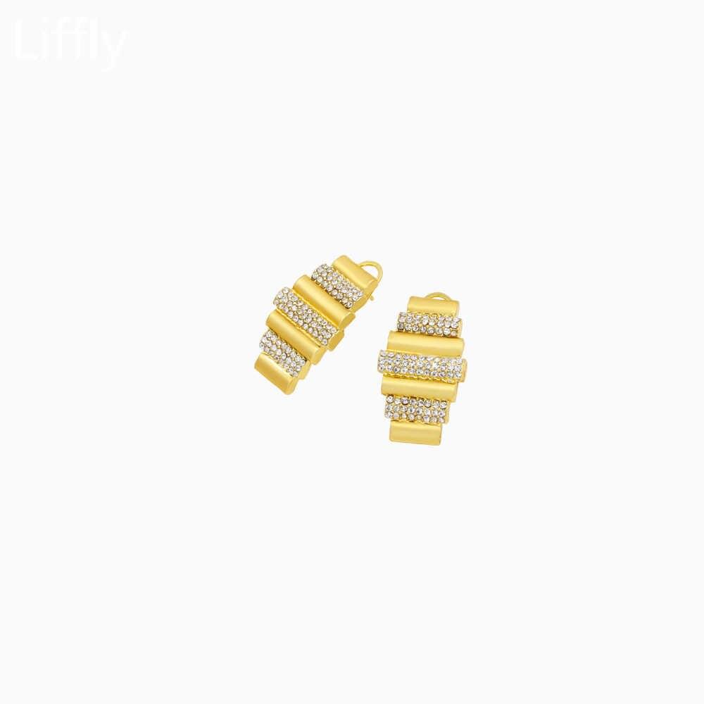 Arabian ใหม่คลาสสิก 24 GOLD ชุดเครื่องประดับคริสตัลสร้อยคอแหวนต่างหูออกแบบสไตล์สบายๆของขวัญวันเกิด