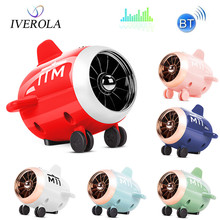 Univerola Mini Bluetooth Speaker Soundbar Airplane Shape Wireless Speakers for Travel Home Portable Stereo Bluetooth Speaker цена и фото