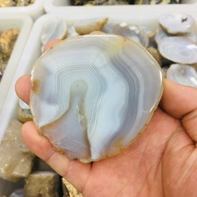 Nature Agate Slice Pendant  quartz Natural Stone Irregular цены