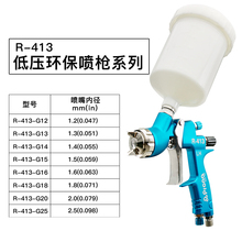 цена на free shipping,prona R-413 HVLP spray gun R413 car painting gun,furniture wood paingting, hand manual car repair paint,gravity