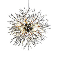 Designer pearl lamp chandelier creative personality American dining room wine bar dining bar dining room branch art luminaires