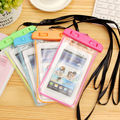 Nueva luz de la noche bolsa de teléfono bolsa de buceo bolsa del teléfono móvil case para samsung s6 para iphone 6 plus xi bajo el agua a prueba de agua teléfono bolsa
