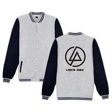Linkin Park Baseball Jacket Pink Black 4XL Coat Warm Sweatshirt Casual Winter Lincoln Linkin Park Jacket Winter For Youngth
