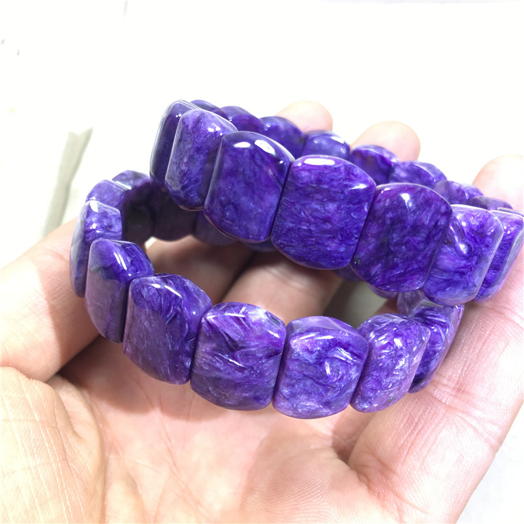 Charoite purple square 15*12mm bangles  FPPJ wholesale beads nature amazing gemstone AACharoite purple square 15*12mm bangles  FPPJ wholesale beads nature amazing gemstone AA