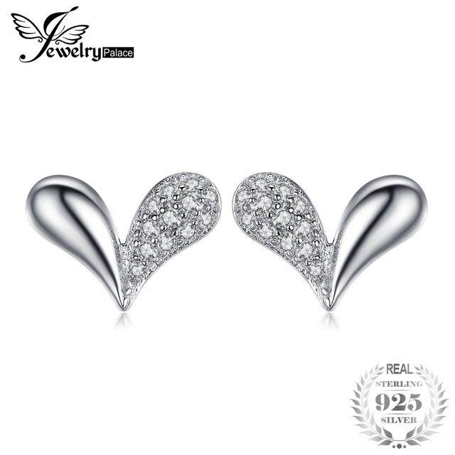 JewelryPalace Fascino Del Cuore Cubic Zirconia Orecchini 925 Sterling Silver Regalo Speciale Multa JewelryBest Regalo Per Le Donne
