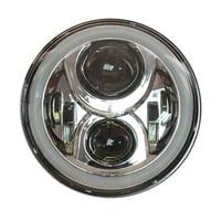 7 For Jeep Wrangler JK Hummer H1 H2 Die Casting Aluminum Alloy 7inch Led Headlights Bulb
