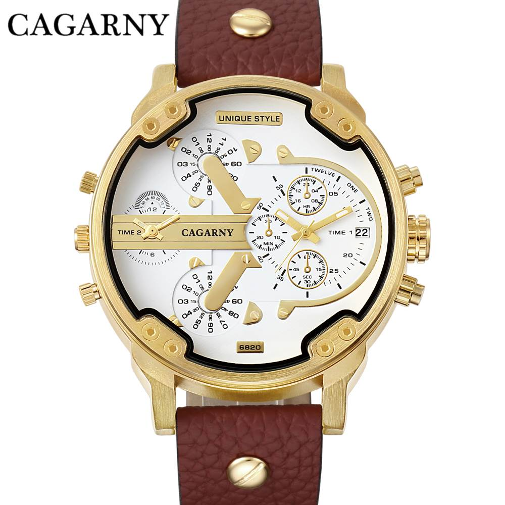 CAGARNY Fashion Luxury Top Marka Man Zegarki skórzany pasek - Męskie zegarki - Zdjęcie 1