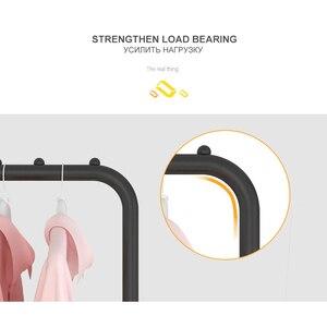 Image 5 - Prosty stojący wieszak na ubrania wieszak do pralni podłoga wieszak na ubrania półki magazynowe meble do sypialni