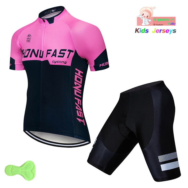 d7d1f1040 Children s MTB Cycling Jersey Set Ropa Ciclismo Mountain Bike Jerseys 2019  Cycling Shorts Kit Maillot Ciclismo