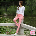 2017 spring and autumn new multicolour fashion casual Elastic plus size thin loose female girls harem pants trousers clothing