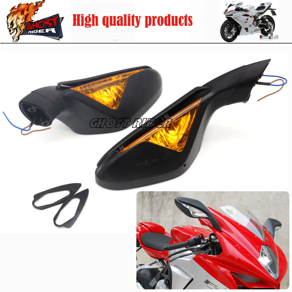 Black motorcycle rearview mirror case for mv agusta F4 F4 RC F4 RR Mirrors
