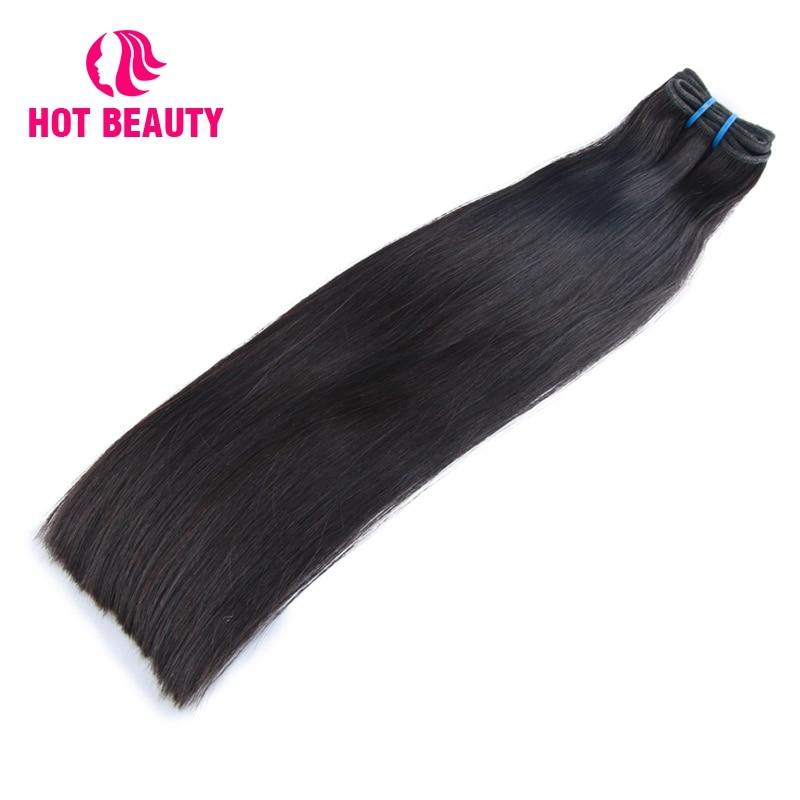 Hot Beauty Hair Extension Funmi Double Drawn Straight Brazilian Virgin Human Hair Kim K bob Natural Color 10-14 Inch Bundles ...
