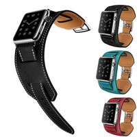 For Apple Watch Band 38mm 42mm Genuine Leather Strap Smart Watch Band Bracelet Replacement Wristband For