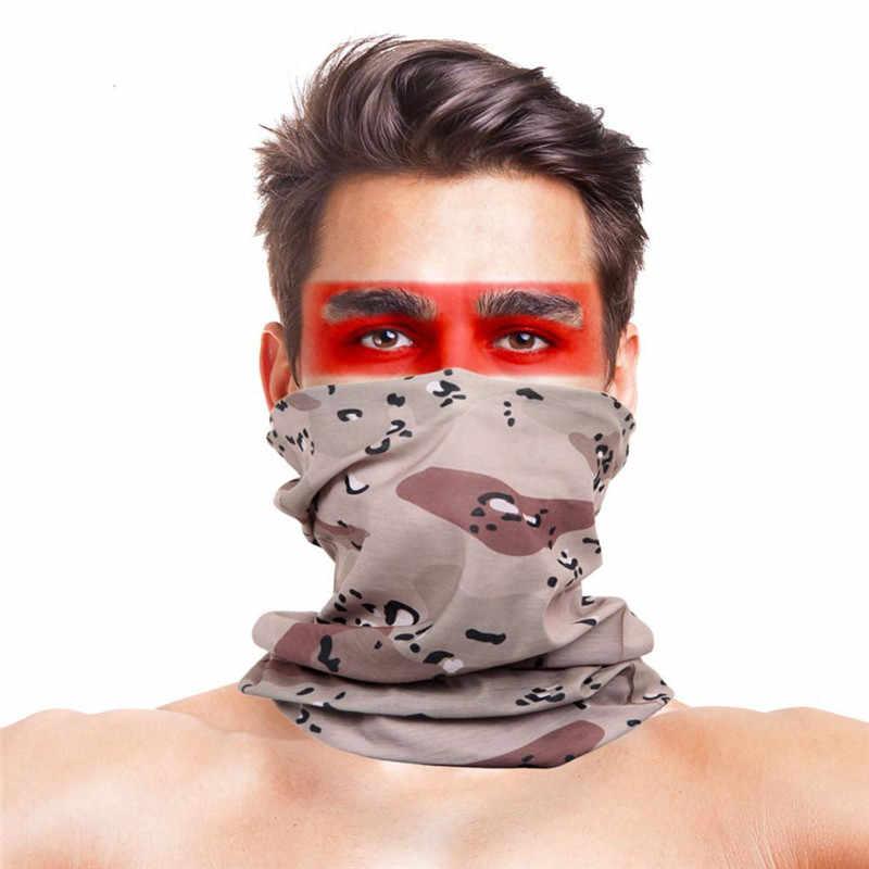 Многоизносные банданы шарфы с высоким прыжком камуфляжная страйкбол маска для лица полиэстер анти-УФ Открытый Кемпинг Туризм велосипед шарф-маска для велосипедиста