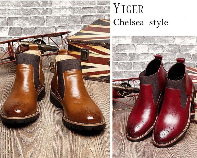 YIGER Men's Chelsea Boots 11