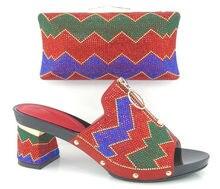 Artikel-nr. DF16-101-RED NEUE Italienische Frau Passende Schuh-Und Taschensatz, Freies Verschiffen Italienische Hochzeit Schuhe Und Passende taschen Sätze