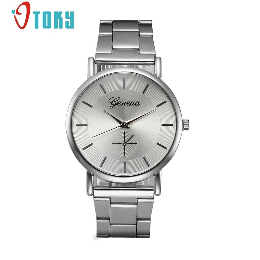 OTOKY Silver Stainless Steel Watches Women Top Brand Luxury Casual Clock Woman Wrist Watch Lady Relogio Feminino #30 Gift 1pc цена и фото