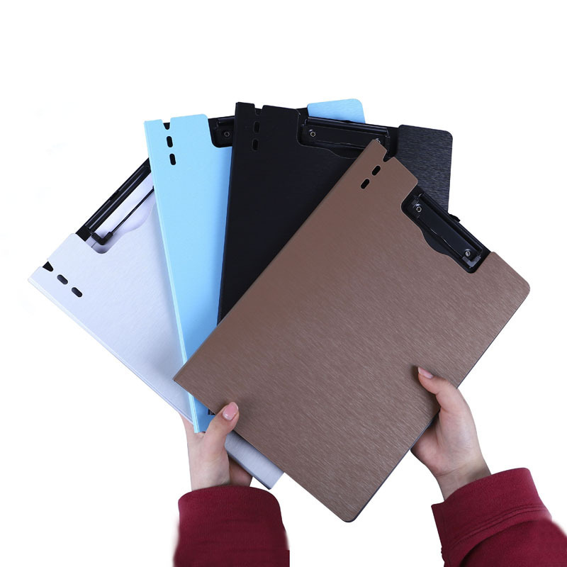 High Quality Office Supplies New Solid Color Stripe Simple Folder Folder Wholesale