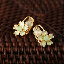 Ethnic antique ear stud earrings temperament super fairy female simple cold wind jewelry