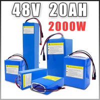 48V 20ah battery 48V 1000W 2000W electric bicycle battery 48v lithium ion battery battery with 54.6V 3A charger