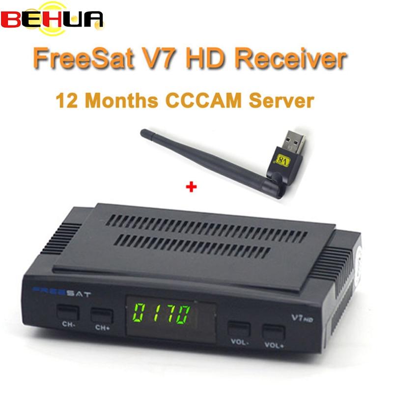 digital tv satellite decoder freesat v7 hd satellite receiver dvb s2 hd usb wifi full powervu. Black Bedroom Furniture Sets. Home Design Ideas