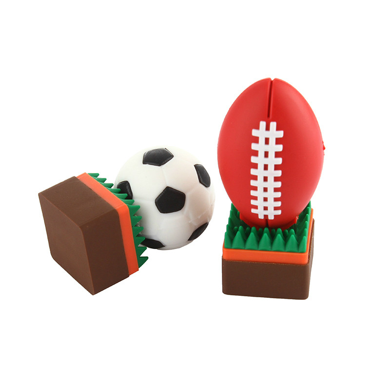 Image 2 - Football Pen Drive 4GB 8GB USB Stick 16GB 32GB Funny Cartoon Usb Flash Drive 64GB 128GB Pendrive High Quality Flash Memory Stick-in USB Flash Drives from Computer & Office