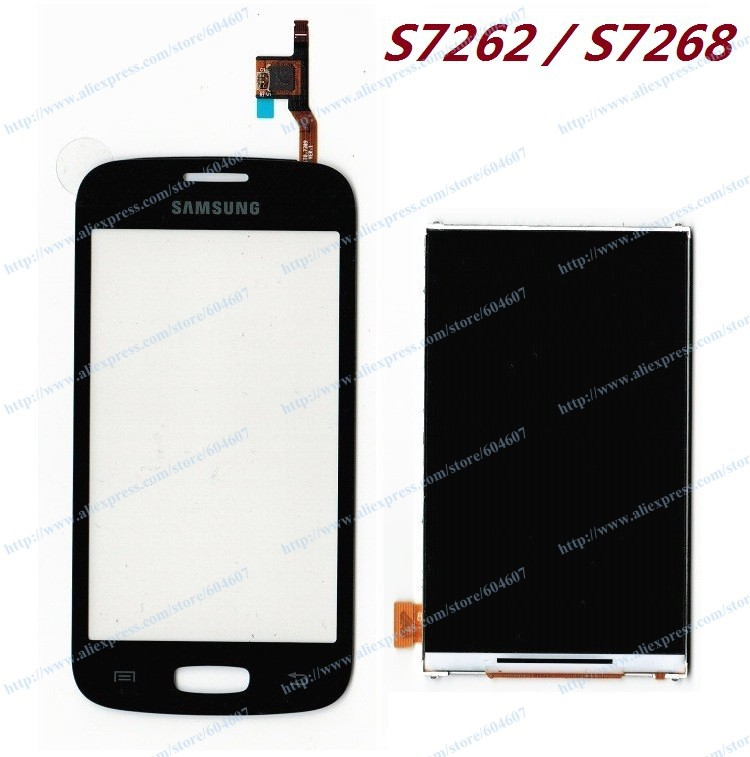 ФОТО New Black Blue OEM Touch screen with Digitizer+LCD Display For Samsung Star Plus S7262 GT-S7262 S7268 GT-S7268 Phone