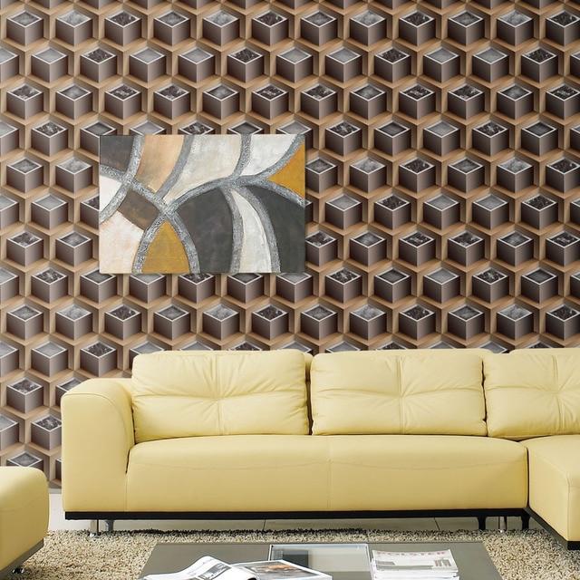 US $29.23 16% OFF 5 farben moderne simulation 3D hintergrundbild 3D mode  wohnzimmer schlafzimmer TV wand tapete 3D mosaik wandtapete in 5-farben ...