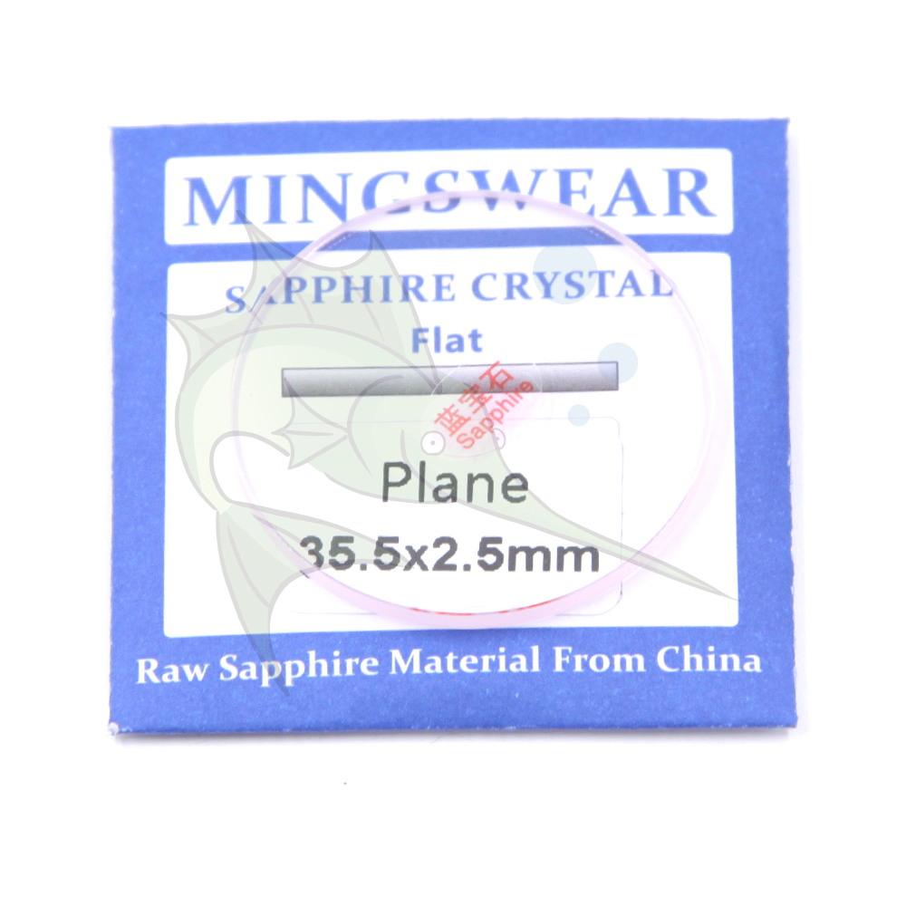 High Quality Flat 35mm Sapphire Glass 2.5mm Thickness Flat Round Waterproof Watch Parts Sapphire Glass Replacement