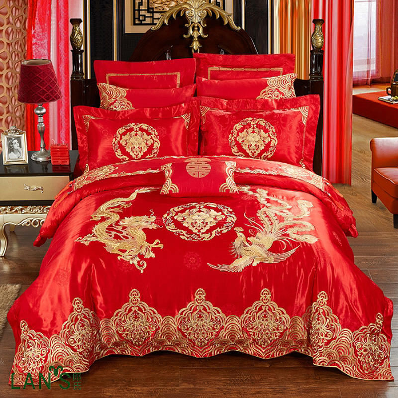 Online Get Cheap Chinese Dragon Bed Sheet Aliexpresscom - Chinese dragon comforter set